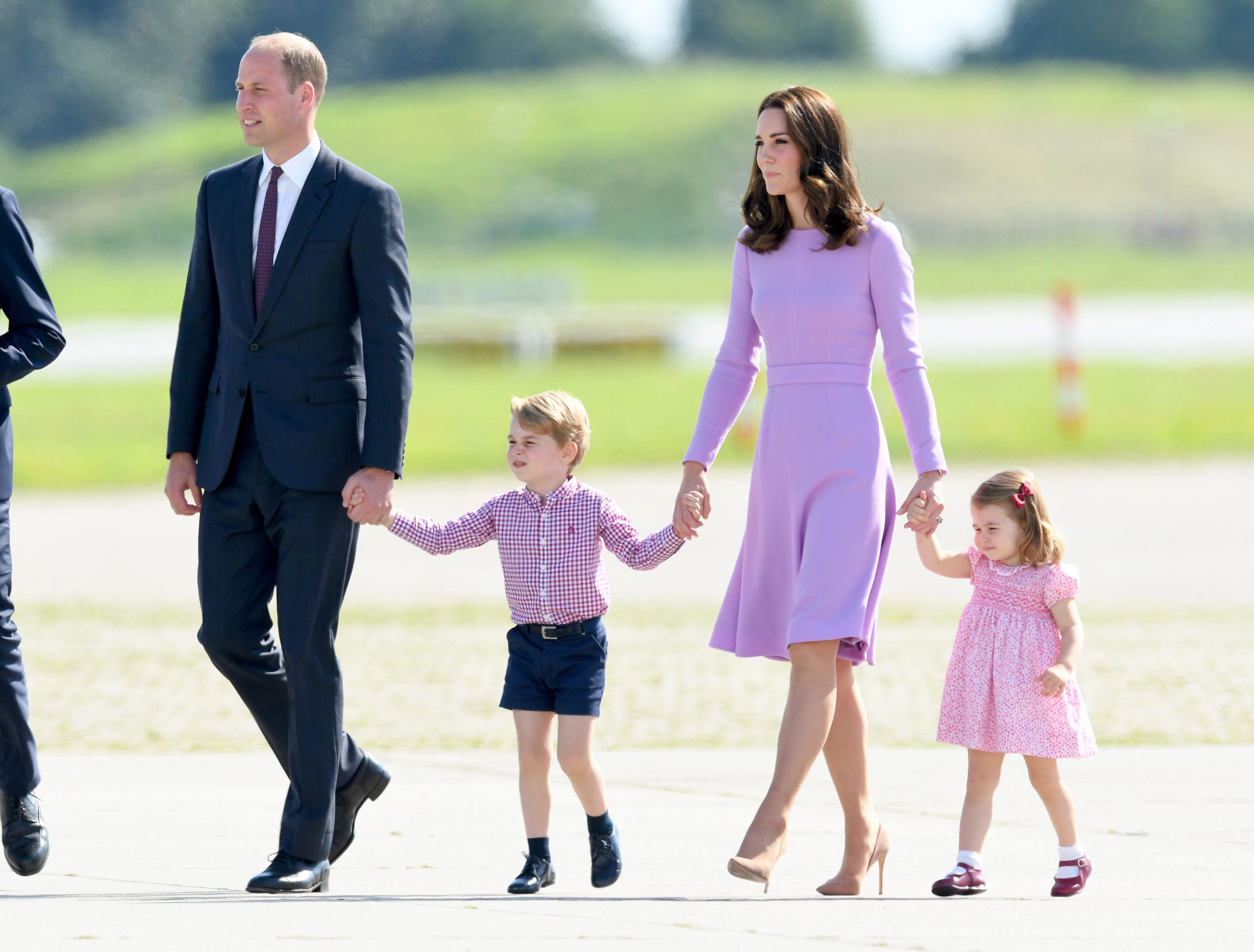 Kate and William with George and Charlotte duringa royal visit to Poland and Germany in 2017.