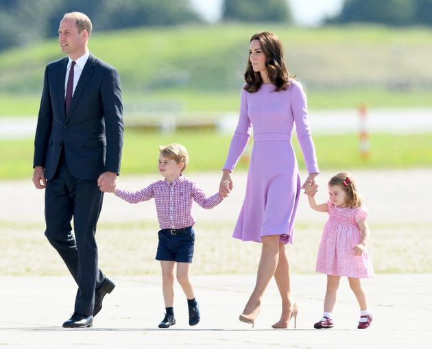 Kate and William with George and Charlotte duringa royal visit to Poland and Germany in