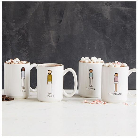 """Get them at <a href=""""https://www.uncommongoods.com/product/personalized-family-mugs"""" target=""""_blank"""">Uncommon Goods</a>."""