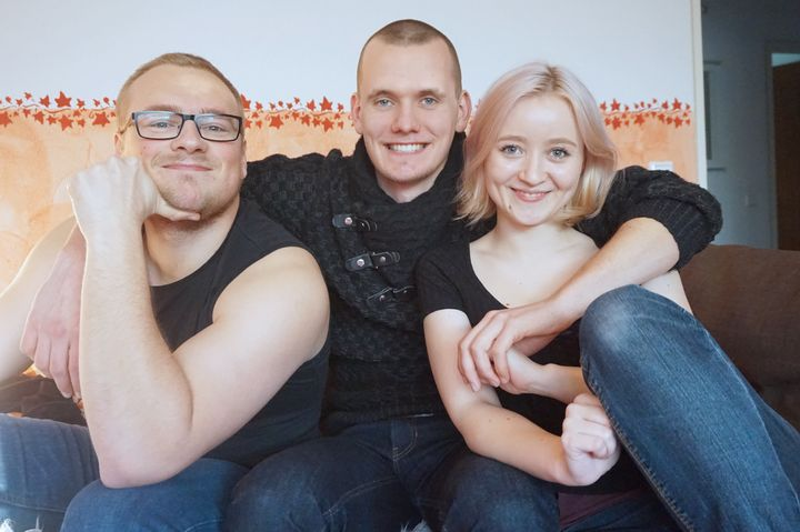 "Michael, Yannick and Natalie. ""Some people think that polyamory only leads to a disaster and want to force you to think of a horrible fail scenario,"" Natalie says."