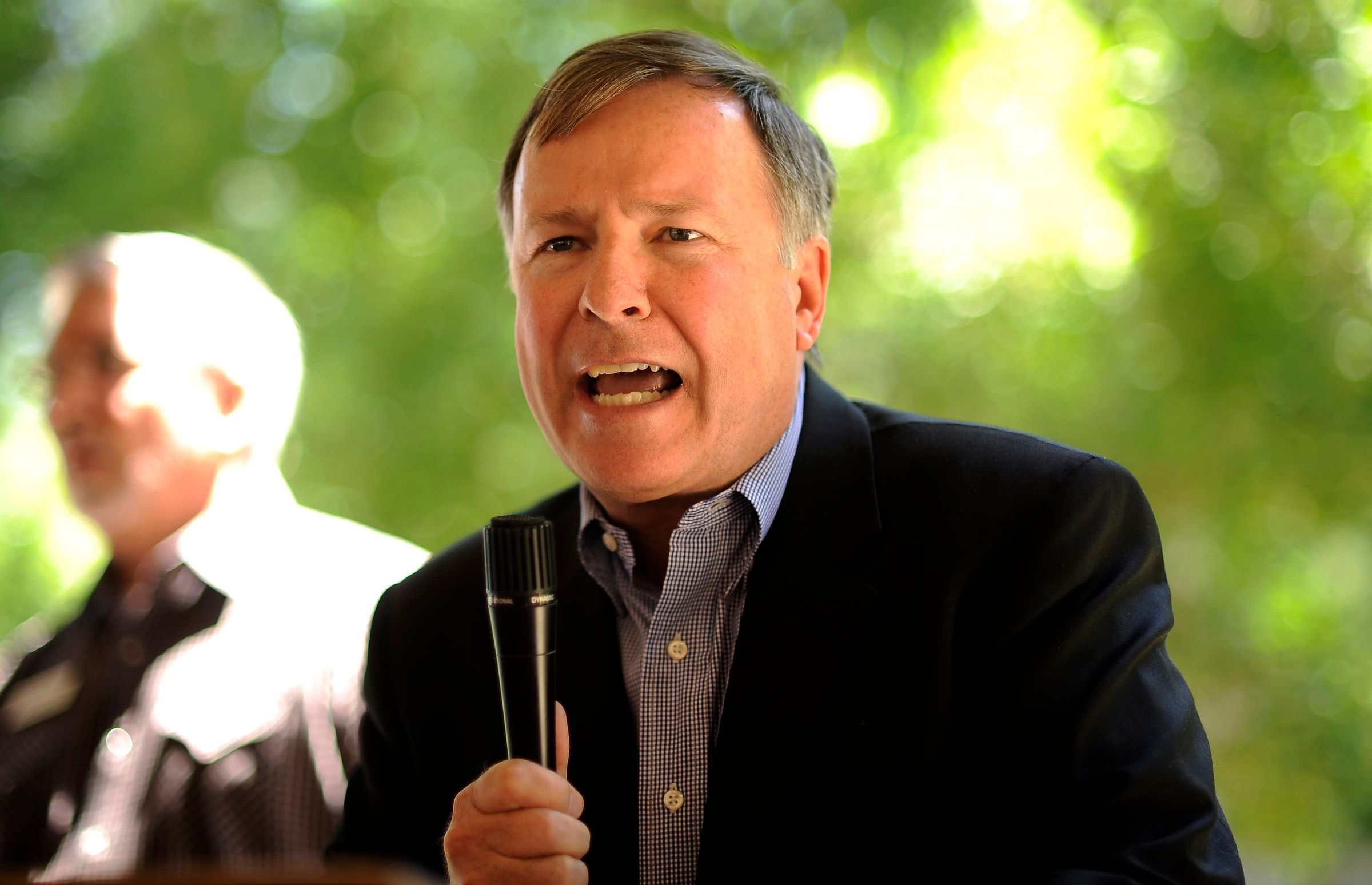 Rep. Doug Lamborn of Colorado's 5th congressional district made appearance at the El Paso County GOP Women's picnic in Antlers Park, Colorado Springs, Colo., on Tuesday, June 12. Hyoung Chang, The Denver Post  (Photo By Hyoung Chang/The Denver Post via Getty Images)