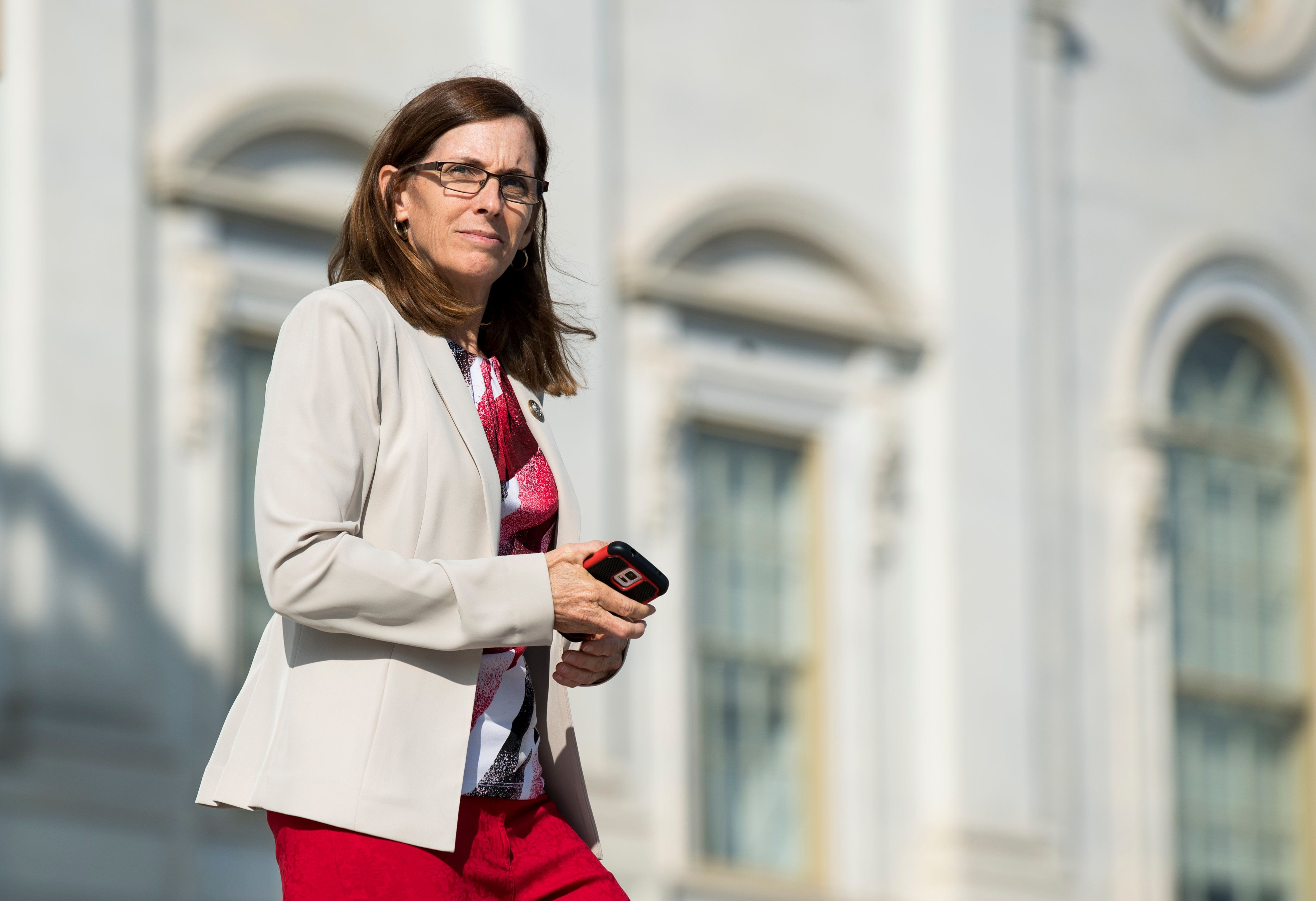UNITED STATES - NOVEMBER 3: Rep. Martha McSally, R-Ariz., walks down the House steps after voting in the Capitol on Friday, Nov. 3, 2017. (Photo By Bill Clark/CQ Roll Call)
