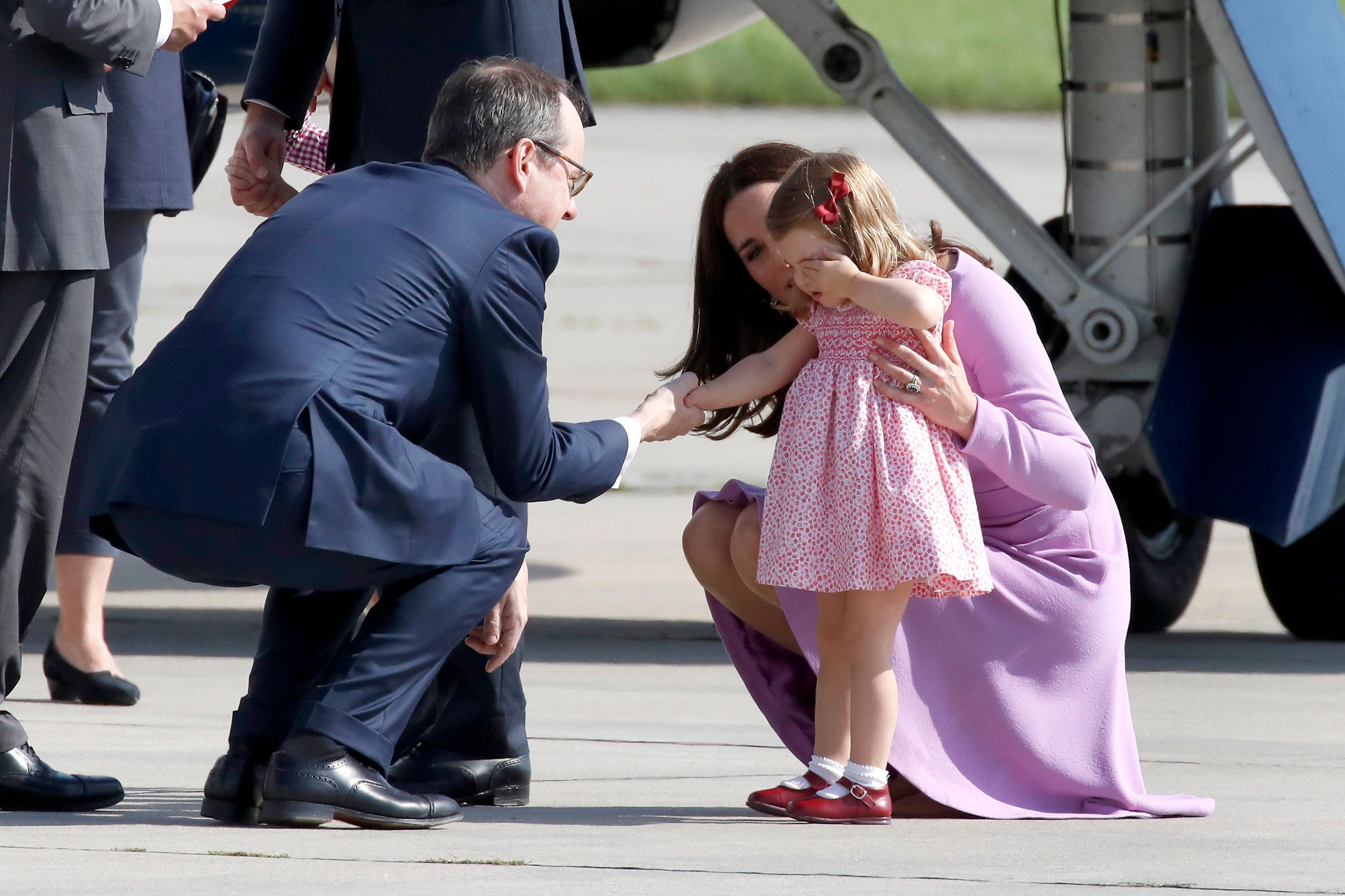 We missed the adorable moment between George and Charlotte yesterday