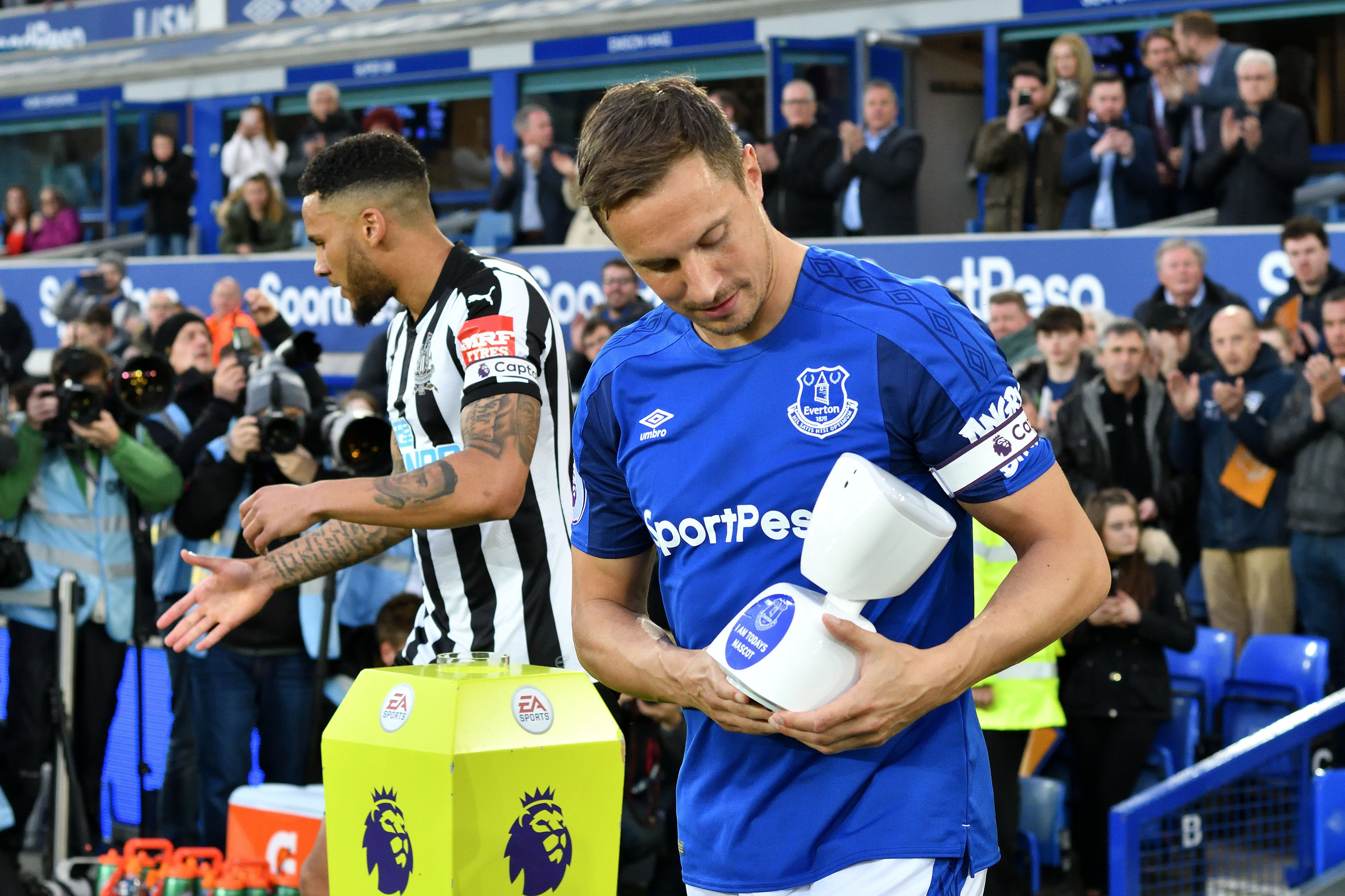 Premier League's first remote mascot appears at Everton