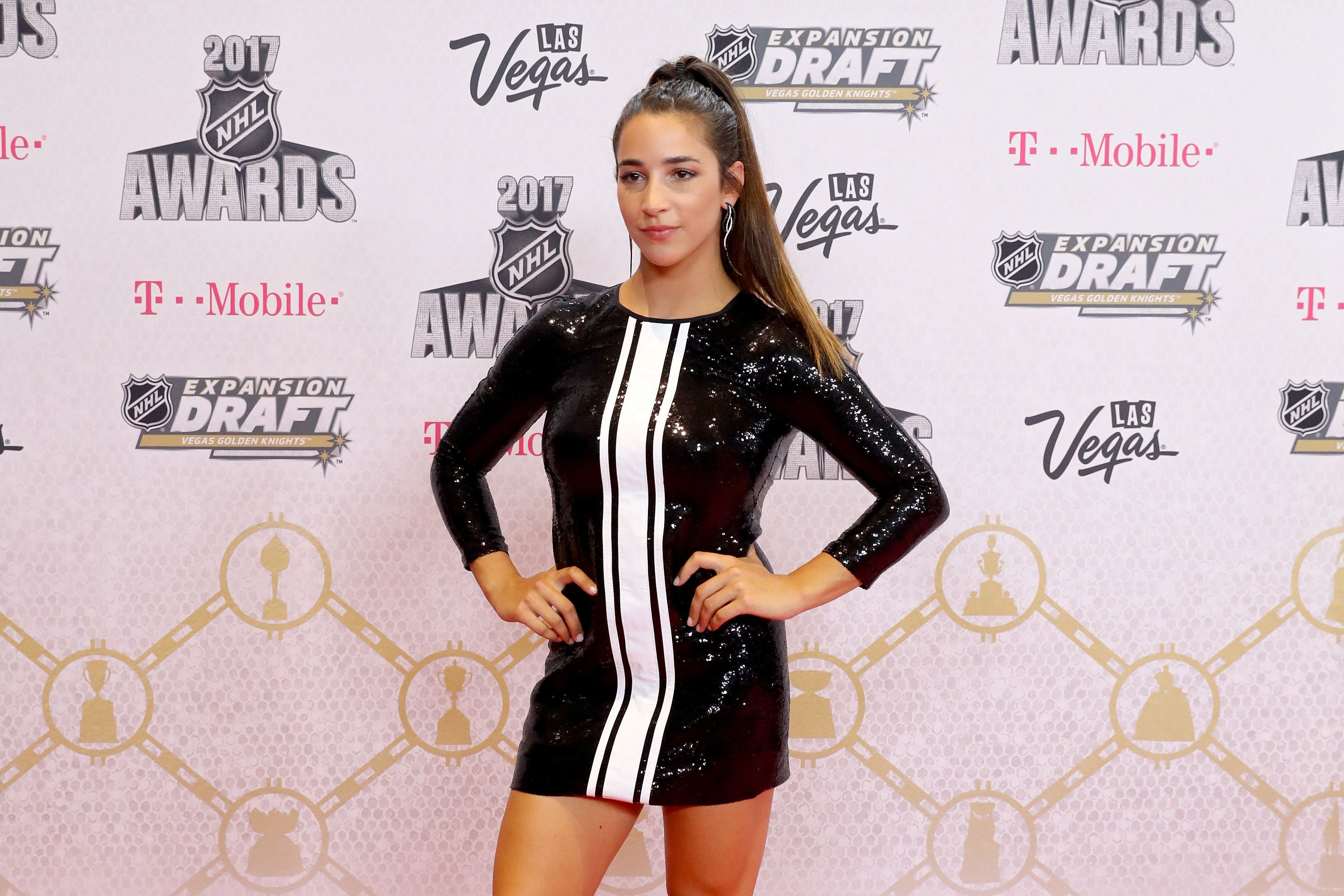 LAS VEGAS, NV - JUNE 21:  Gymnast Aly Raisman attends the 2017 NHL Awards at T-Mobile Arena on June 21, 2017 in Las Vegas, Nevada.  (Photo by Bruce Bennett/Getty Images)