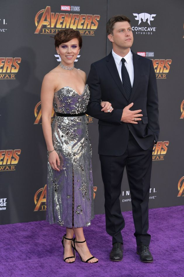 Scarlett Johansson And Colin Jost Make Their Red Carpet Debut As A