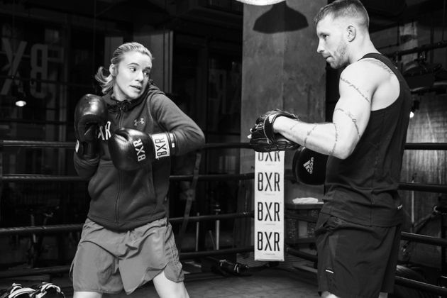 Amy Andrews teaches boxing at Kobox, BXR and