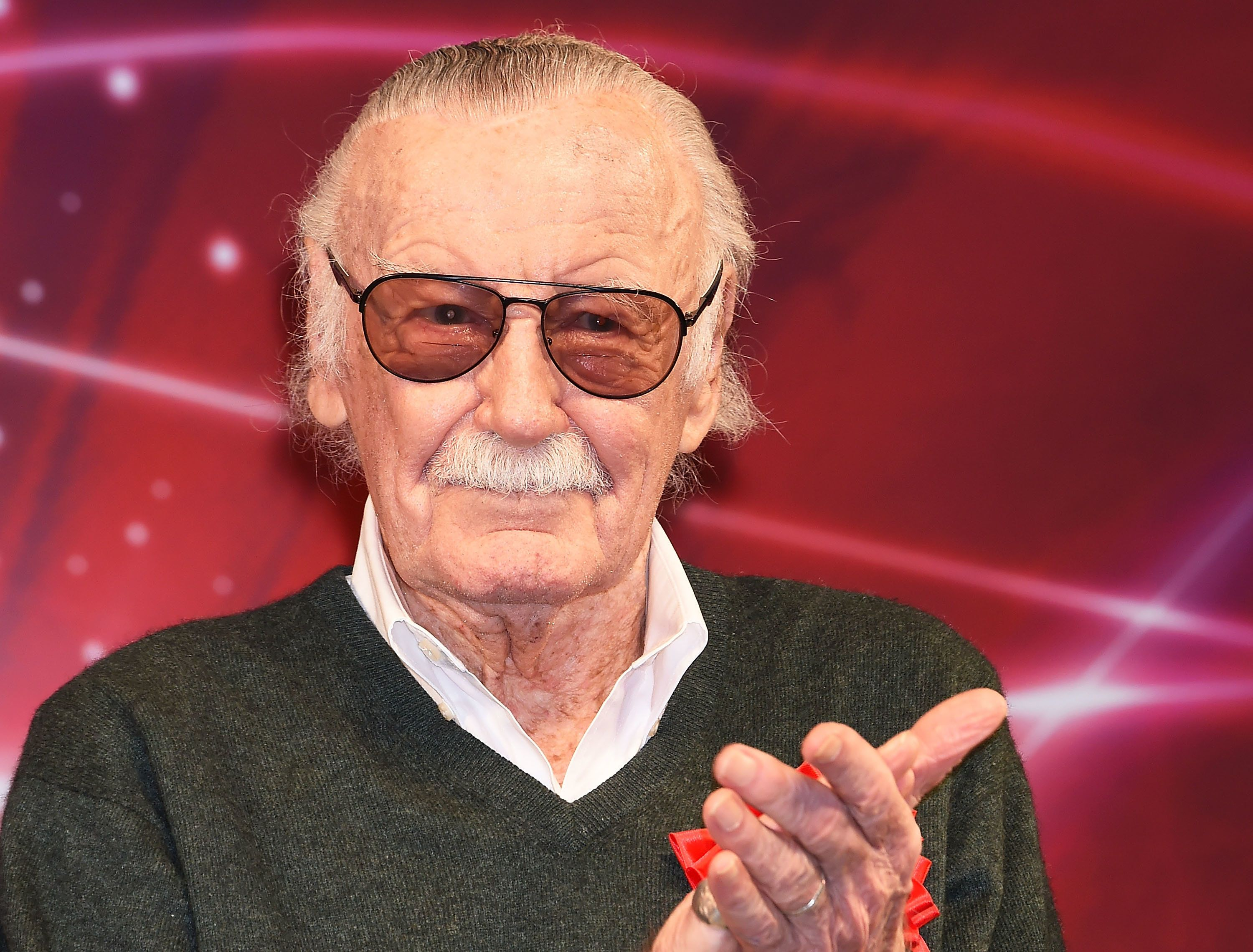 CHIBA, JAPAN - DECEMBER 01:  Stan Lee attends the opening day of Tokyo Comic Con at Makuhari Messe on December 1, 2017 in Chiba, Japan.  (Photo by Jun Sato/WireImage)