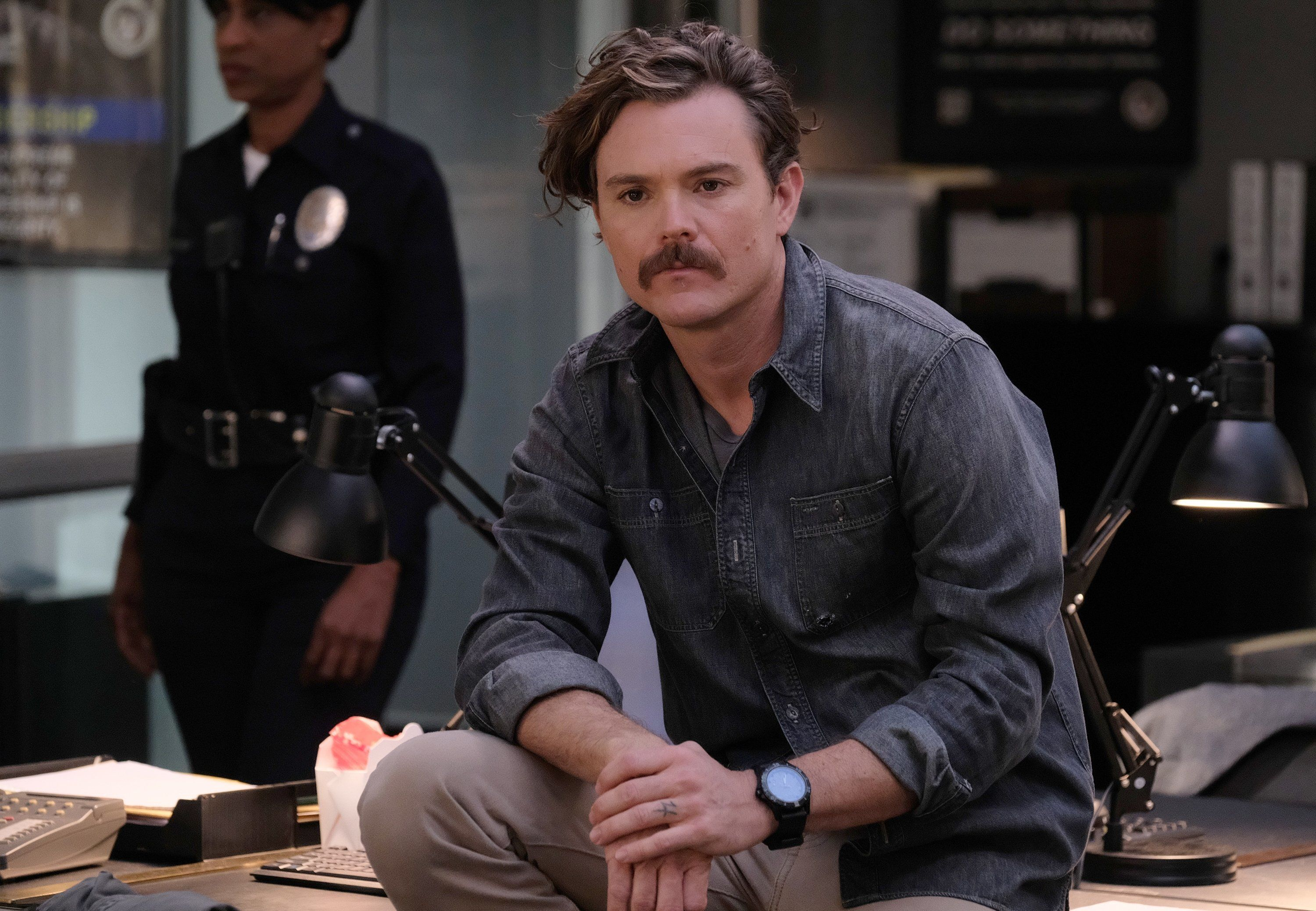 "Actor Clayne Crawford as Martin Riggs on ""Lethal Weapon."""