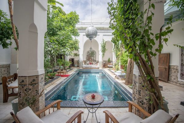"This <a href=""https://www.airbnb.com/rooms/3055817"" target=""_blank"">charming riad has a lovely courtyard pool</a> and one of"