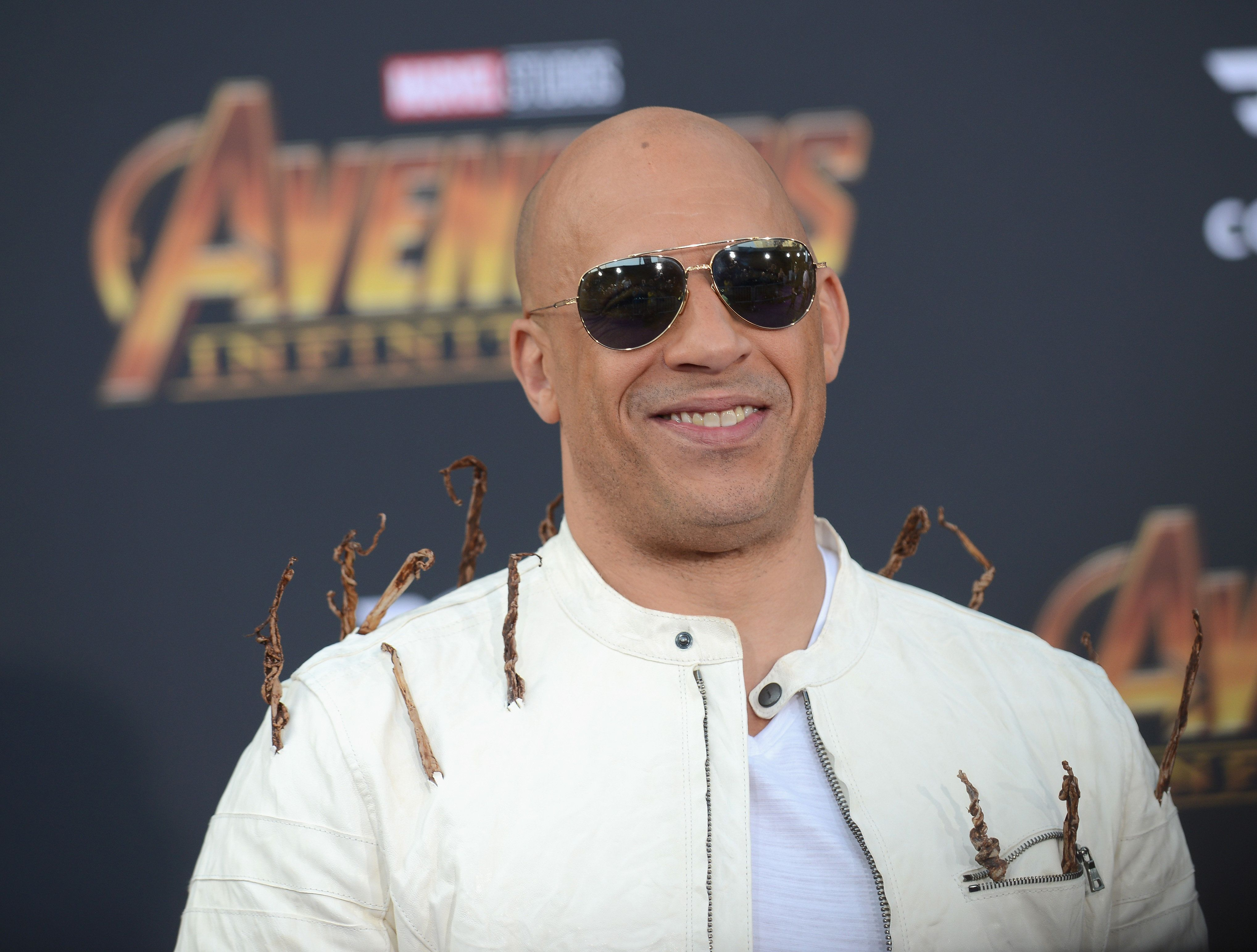 LOS ANGELES, CA - APRIL 23: Actor Vin Diesel arrives for the Premiere Of Disney And Marvel's 'Avengers: Infinity War' held on April 23, 2018 in Los Angeles, California.  (Photo by Albert L. Ortega/Getty Images)