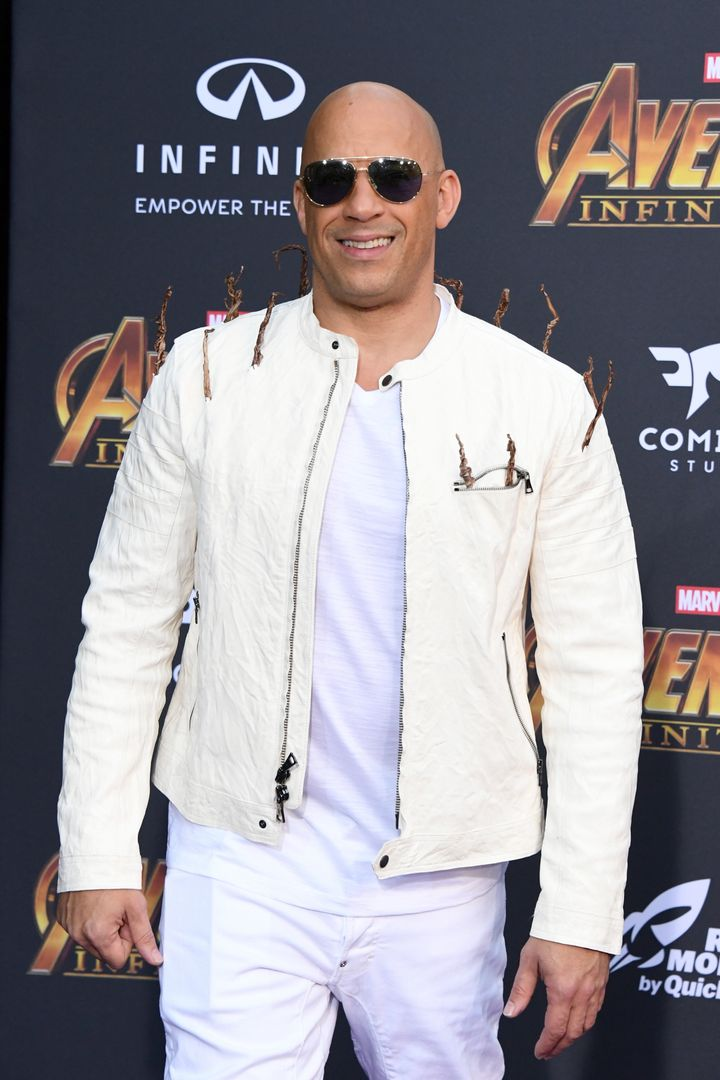 Vin Diesel Actually Dressed As Groot For Avengers