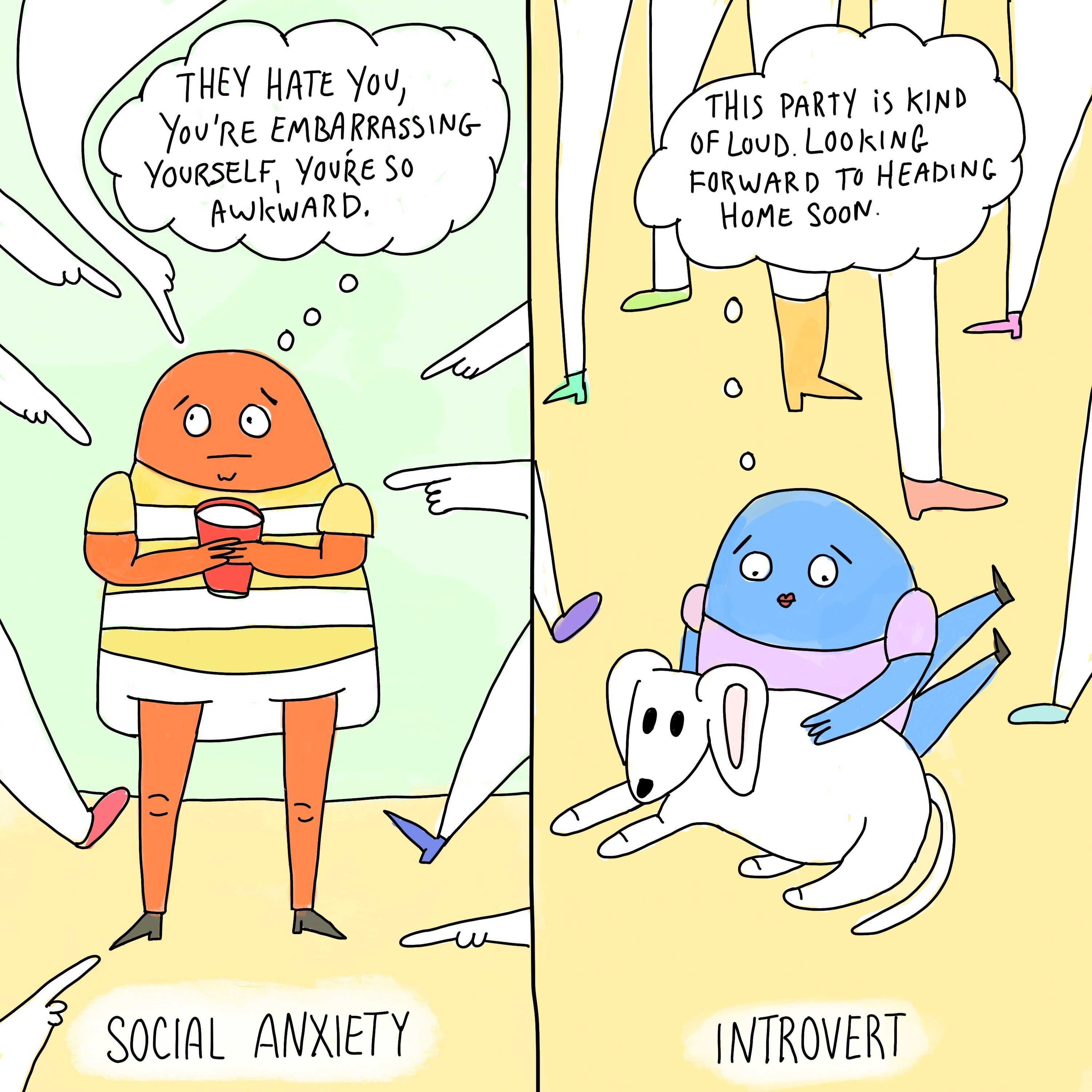 The Difference Between Social Anxiety And Introversion, In 4