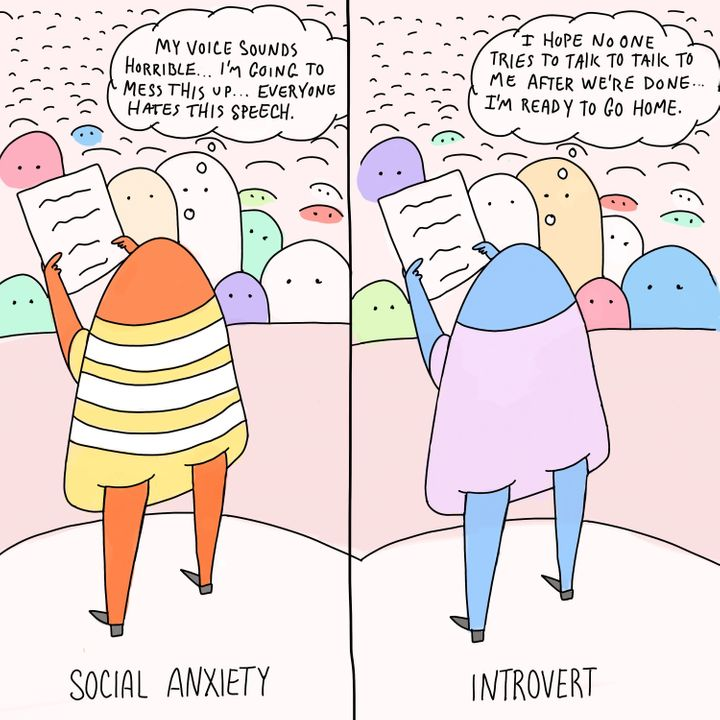 Anxieties Phobias: The Difference Between Social Anxiety And Introversion, In