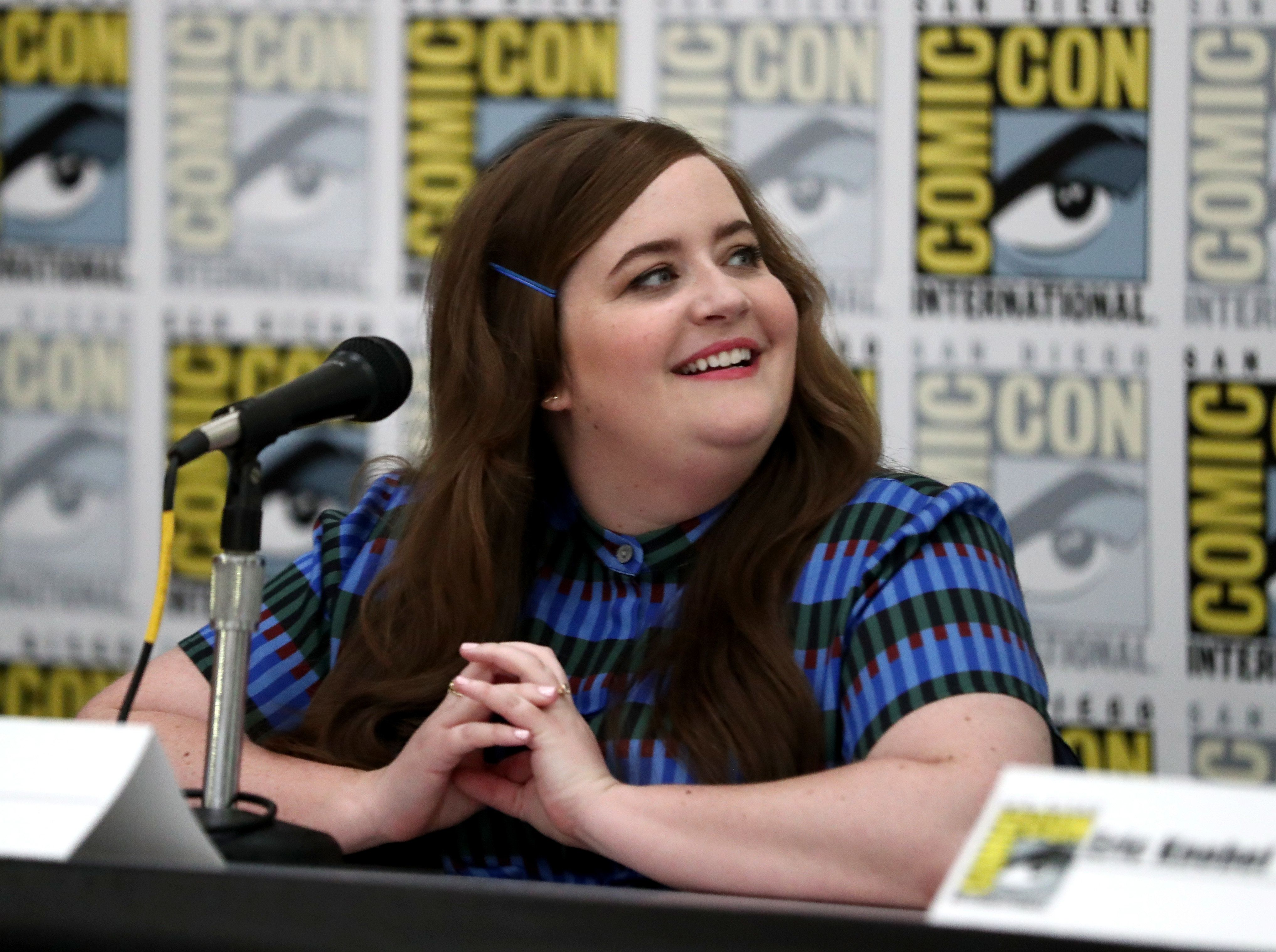 SAN DIEGO, CA - JULY 23:  Actor Aidy Bryant attends Amazon's 'Danger & Eggs' panel at San Diego Comic-Con International 2017 at the San Diego Convention Center on July 23, 2017 in San Diego, California.  (Photo by Todd Williamson/Getty Images for Amazon Studios)