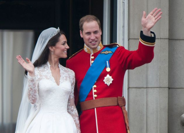 Prince William -- sans a wedding ring -- on his wedding day on April 29,