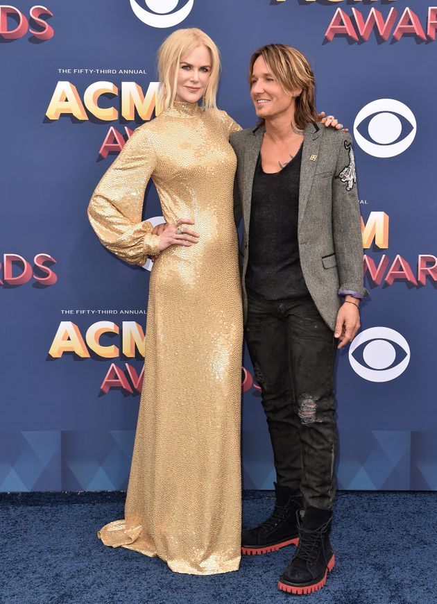 Kidman and Urban attend the 53rd Academy of Country Music Awards on April