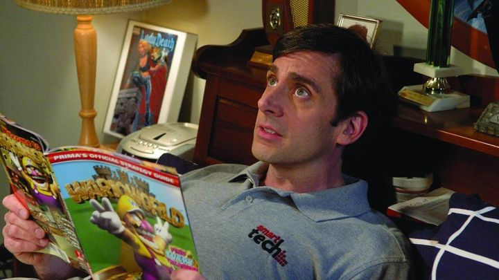 """The 40-Year-Old Virgin"" on Netflix."
