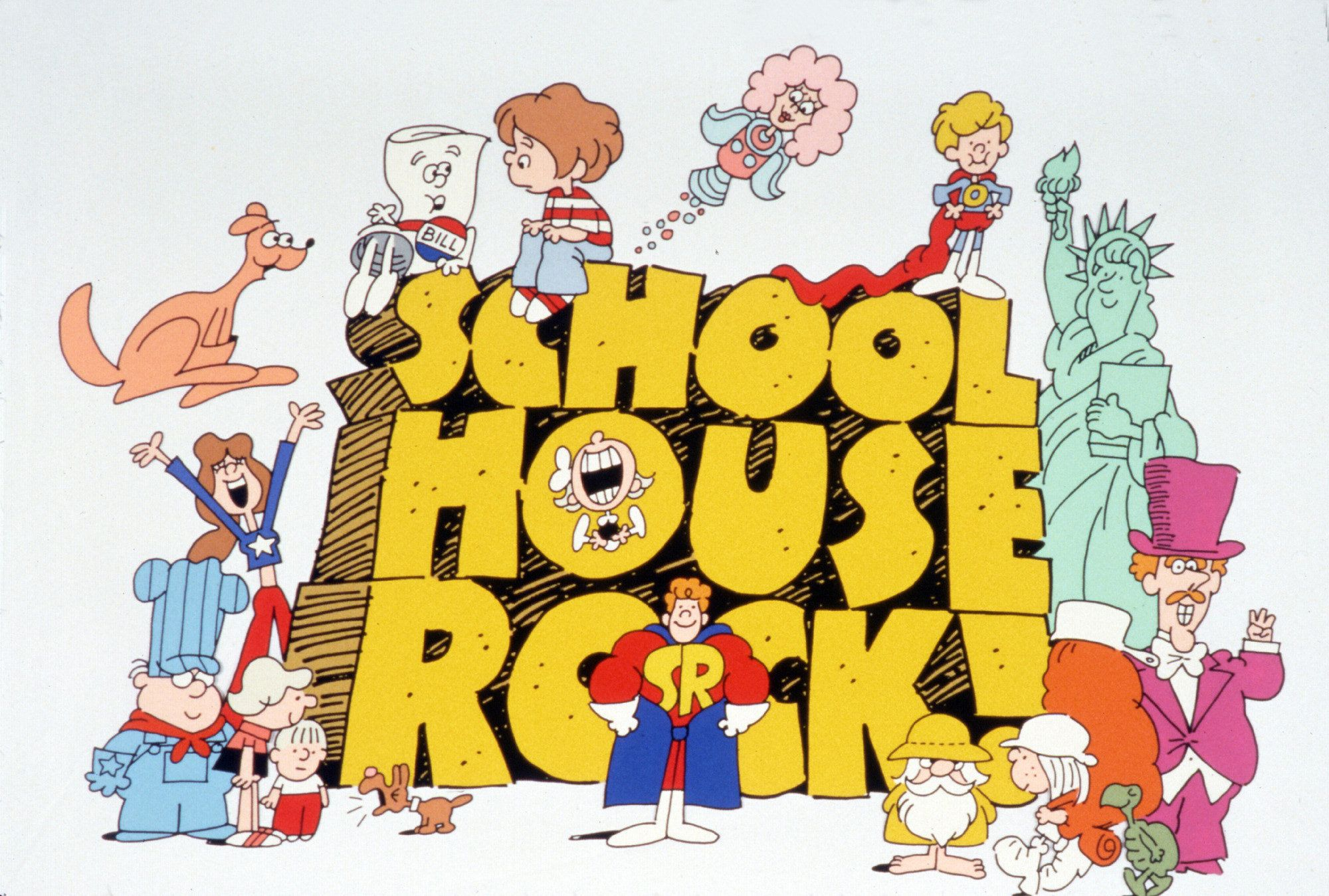 UNITED STATES - APRIL 28:  ABC's SCHOOLHOUSE ROCK! - 1979, Tracking #15211, 45312A, On Saturday mornings, the three-minute long Emmy Award-winning musical vignettes of 'Schoolhouse Rock!' (1972-85) educated children about math, grammar, science, history and finance. Tom Yohe and George Newall were the original creative forces of the series.,  (Photo by ABC Photo Archives/ABC via Getty Images)
