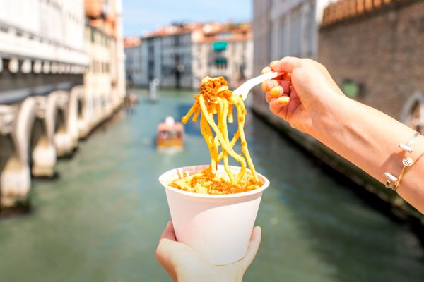 In Venice, there's something tasty for everyone. Wine lovers might want to chow down on the spectacular wine and unique seafo
