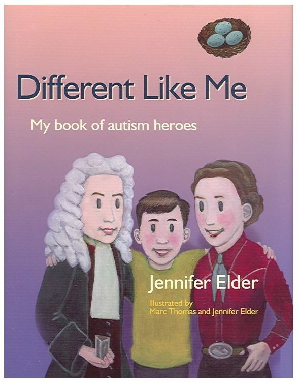 This book highlights famous people who didn't quite fit into society from the perspective of a young boy on the spe