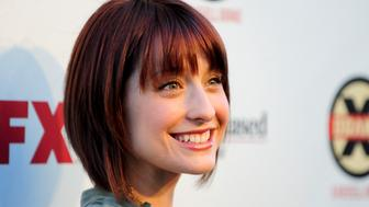 Actress Allison Mack arrives at the Hollywood FX Summer Comedies Party in Los Angeles, California June 26, 2012. REUTERS/Gus Ruelas (UNITED STATES - Tags: ENTERTAINMENT)