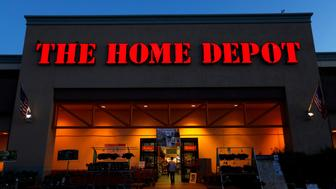 The logo of Down Jones Industrial Average stock market index listed company Home Depot is seen in Encinitas, California April 4, 2016.  REUTERS/Mike Blake