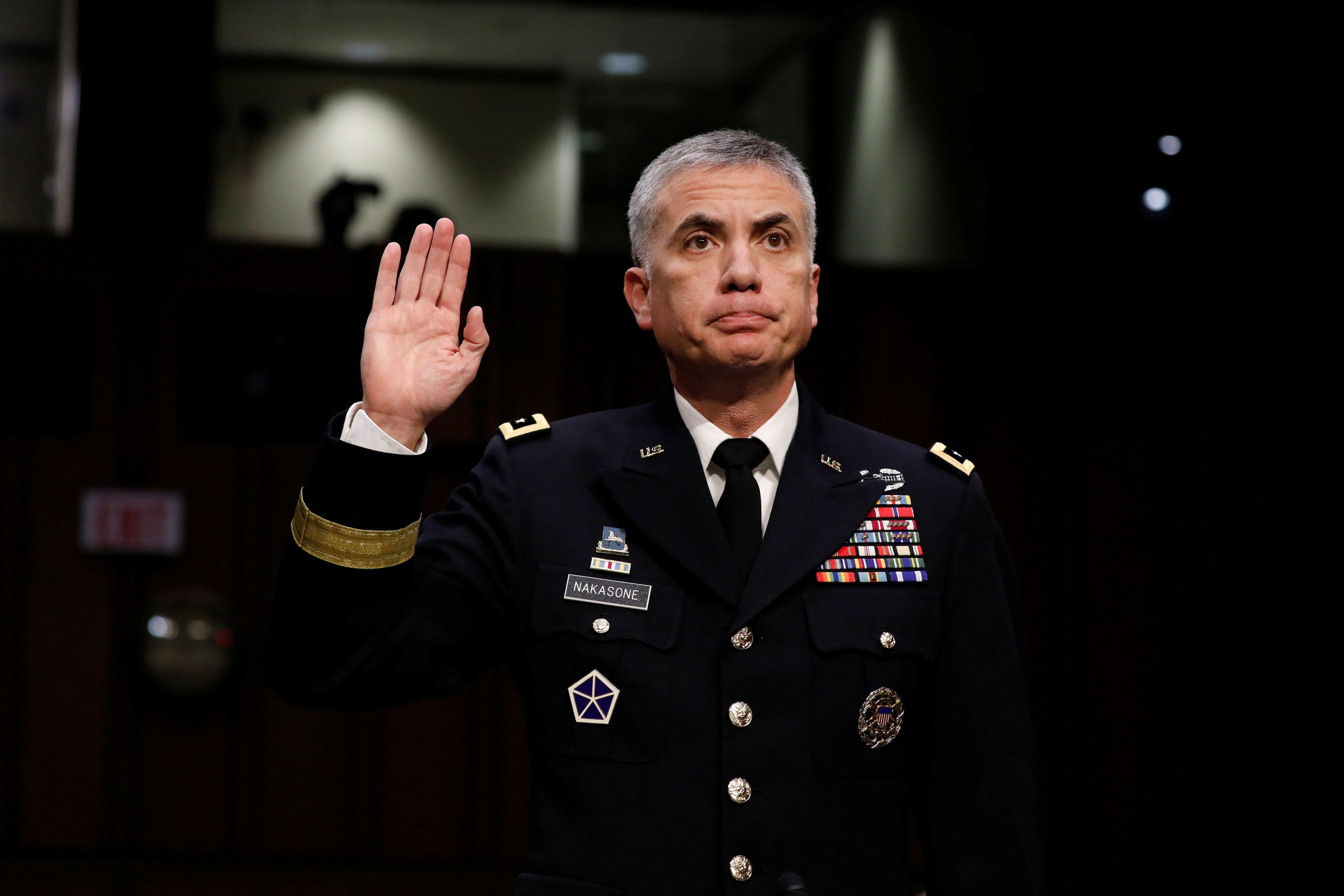 Army Lieutenant General Paul Nakasone, who was confirmed on Tuesday to lead the U.S. Cyber Command and National Security