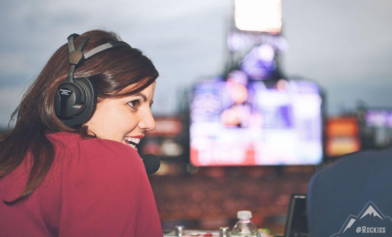 메이저리그 중계방송에 여성 캐스터가