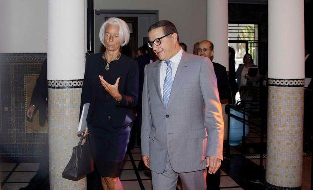 Le ministre des Finances, Mohamed Boussaid et la directrice générale du FMI, Christine