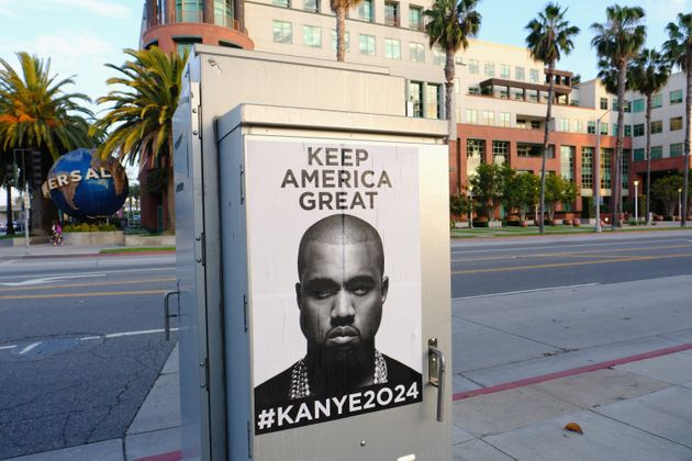 Kanye West tweeted an image containing these posters on Monday -- then quickly deleted it, according...