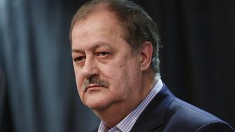 Former Massey Energy CEO Don Blankenship, Republican U.S. Senate candidate from West Virginia, pauses while speaking during a town hall campaign event in Huntington, West Virginia, U.S., on Thursday, Feb. 1, 2018. Blankenship has previously declared avid support for pro-coal President Donald Trump and signaled he was aligned with West Virginia's hard-working electorate. Photographer: Luke Sharrett/Bloomberg via Getty Images
