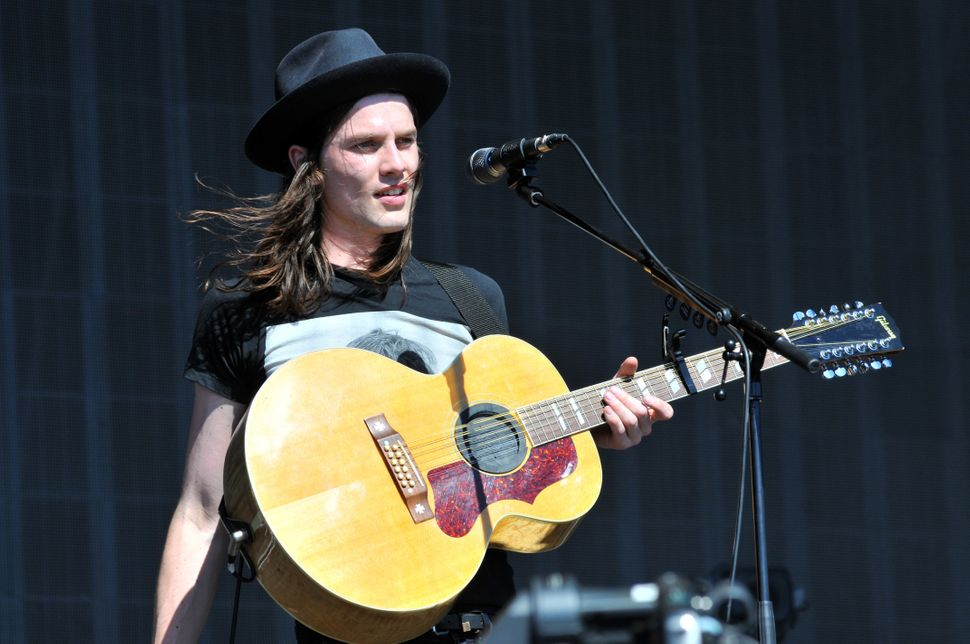 James Bay performs at the V Festival on Aug. 22, 2015, inChelmsford, England.