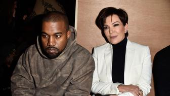 PARIS, FRANCE - MARCH 06:  Kanye West and Kris Jenner attend the Givenchy  show as part of the Paris Fashion Week Womenswear Fall/Winter 2016/2017 on March 6, 2016 in Paris, France.  (Photo by Pascal Le Segretain/Getty Images)