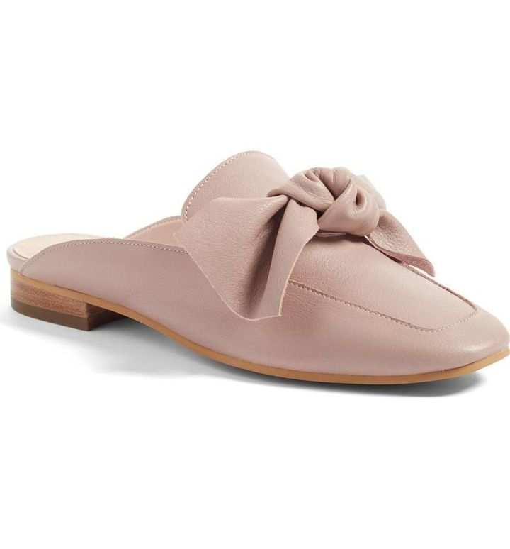 Nordstrom's popular 'Maddy' mule in Blush Leather.