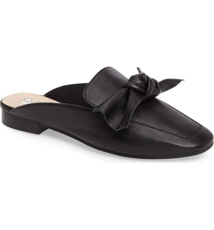 Nordstrom's popular 'Maddy' mule in Black Leather.