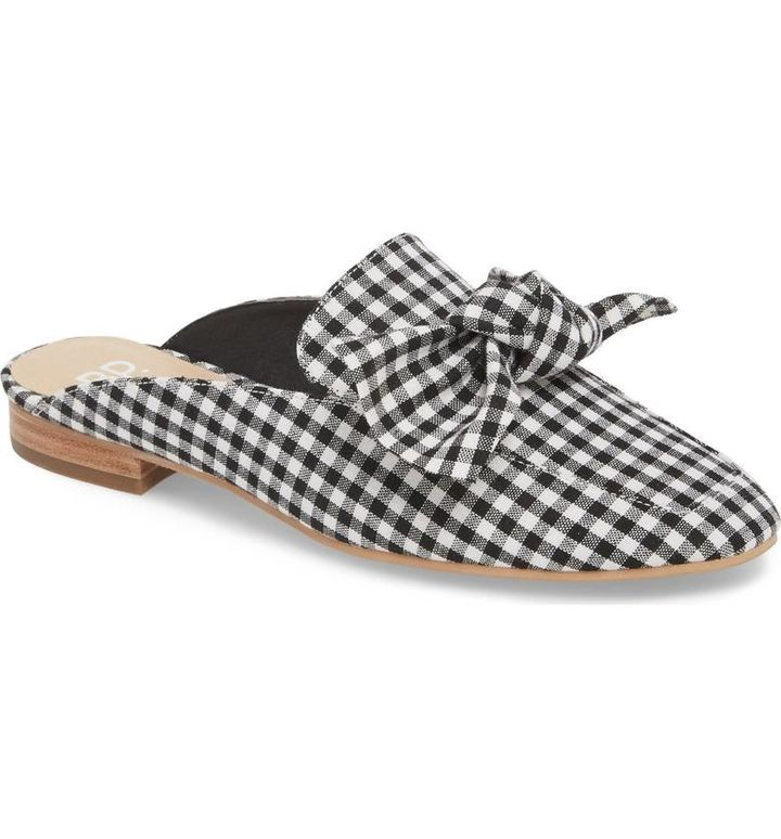 Nordstrom's popular 'Maddy' mule in Gingham Fabric.