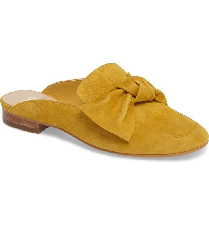 Nordstrom's popular 'Maddy' mule in Mustard Suede.