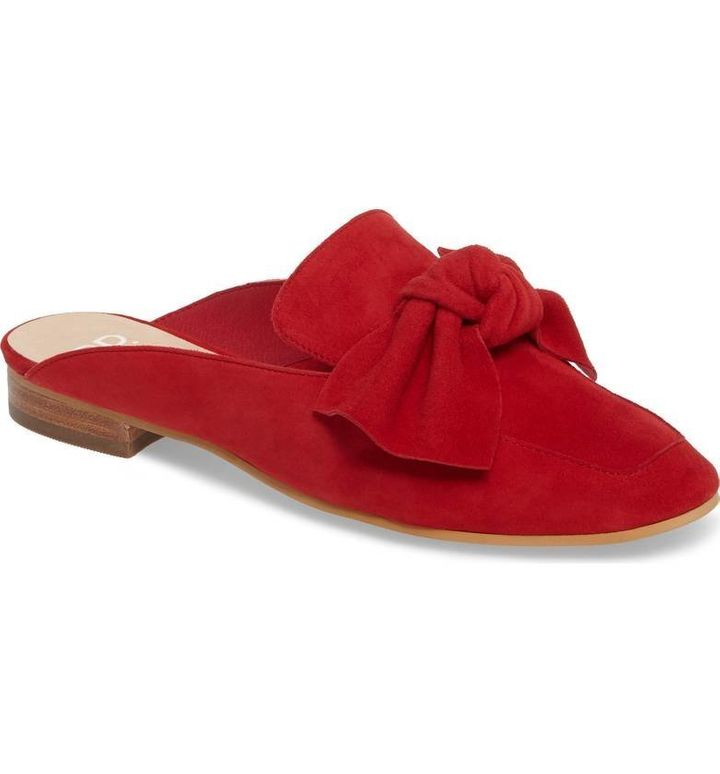 Nordstrom's popular 'Maddy' mule in Red Suede.