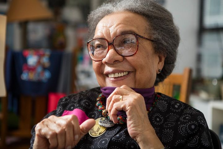 "Wright Edelman wears pendants around her neck of Harriet Tubman and Sojourner Truth every day. ""If those two cool"