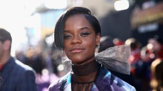 HOLLYWOOD, CA - APRIL 23:  Actor Letitia Wright attends the Los Angeles Global Premiere for Marvel Studios' Avengers: Infinity War on April 23, 2018 in Hollywood, California.  (Photo by Rich Polk/Getty Images for Disney)