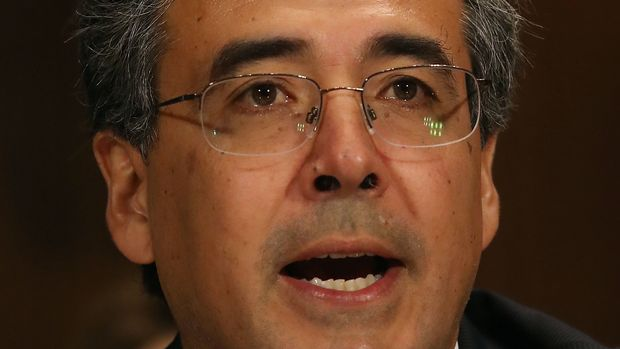 WASHINGTON, DC - MAY 10: Solicitor General nominee, Noel Francisco speaks during his Senate Judiciary Committee confirmation hearing on Capitol Hill, on May 10, 2017 in Washington, DC.  (Photo by Mark Wilson/Getty Images)