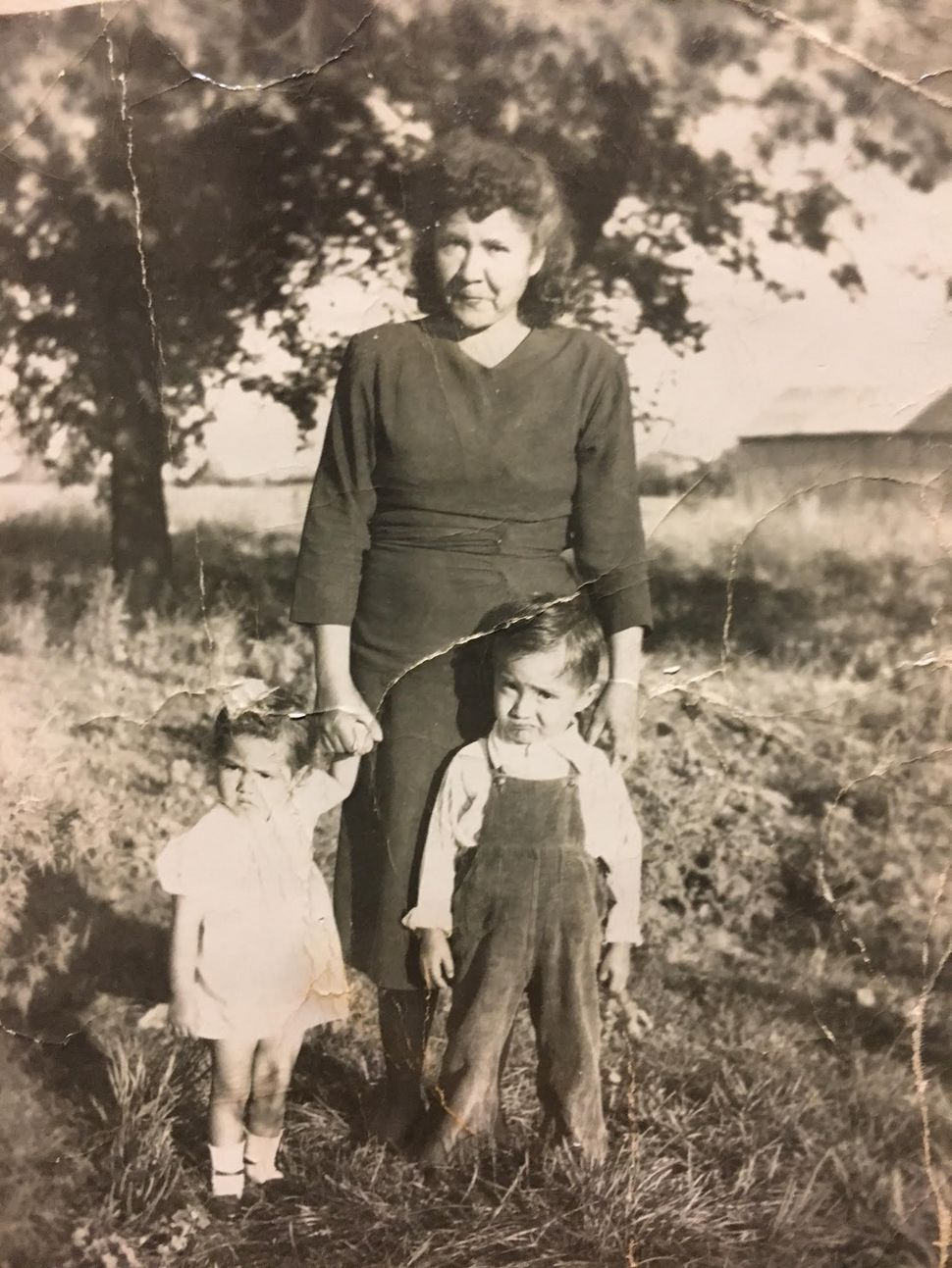 Valdez as a young child with her mom and one of her brothers at the Michigan farm where family members were migrant farmworke