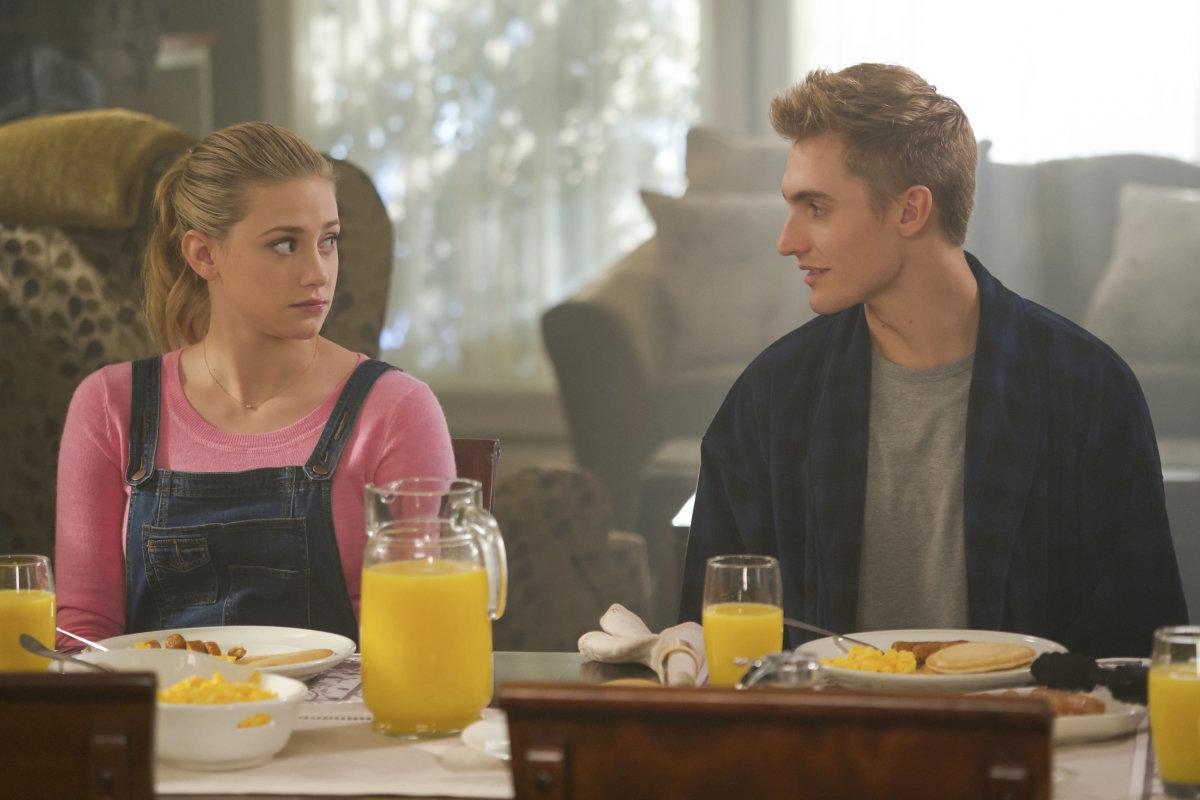 "Lili Reinhart and Hart Denton in ""Riverdale."""