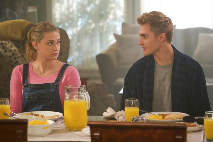 "Lili Reinhart and Hart Denton in ""Riverdale."""