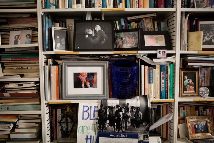 Wright Edelman's office is like a museum of artifacts, from civil rights memorabilia to photos of her grandchildren.