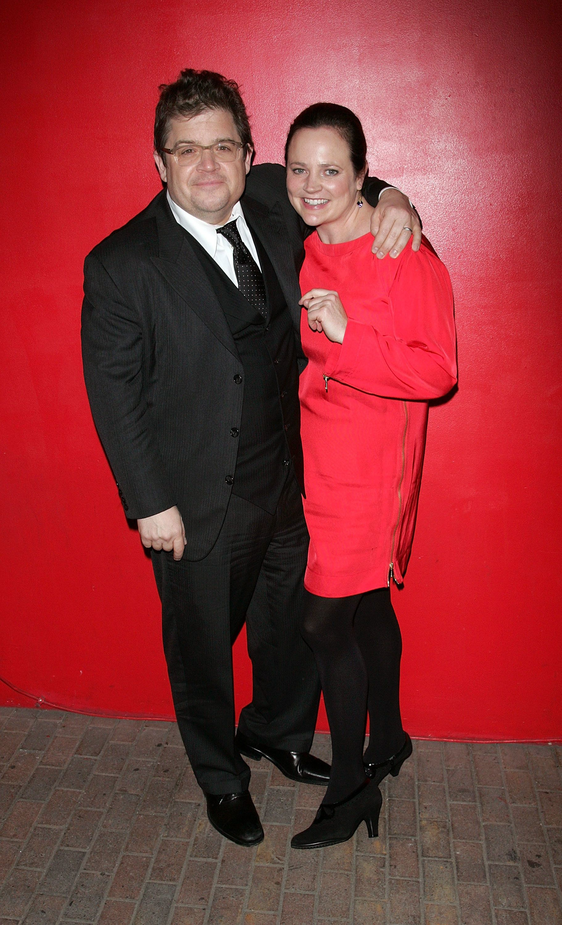 Comedian Patton Oswalt with his wife, Michelle McNamara, in 2011. McNamara, a crime writer, died before her book about t