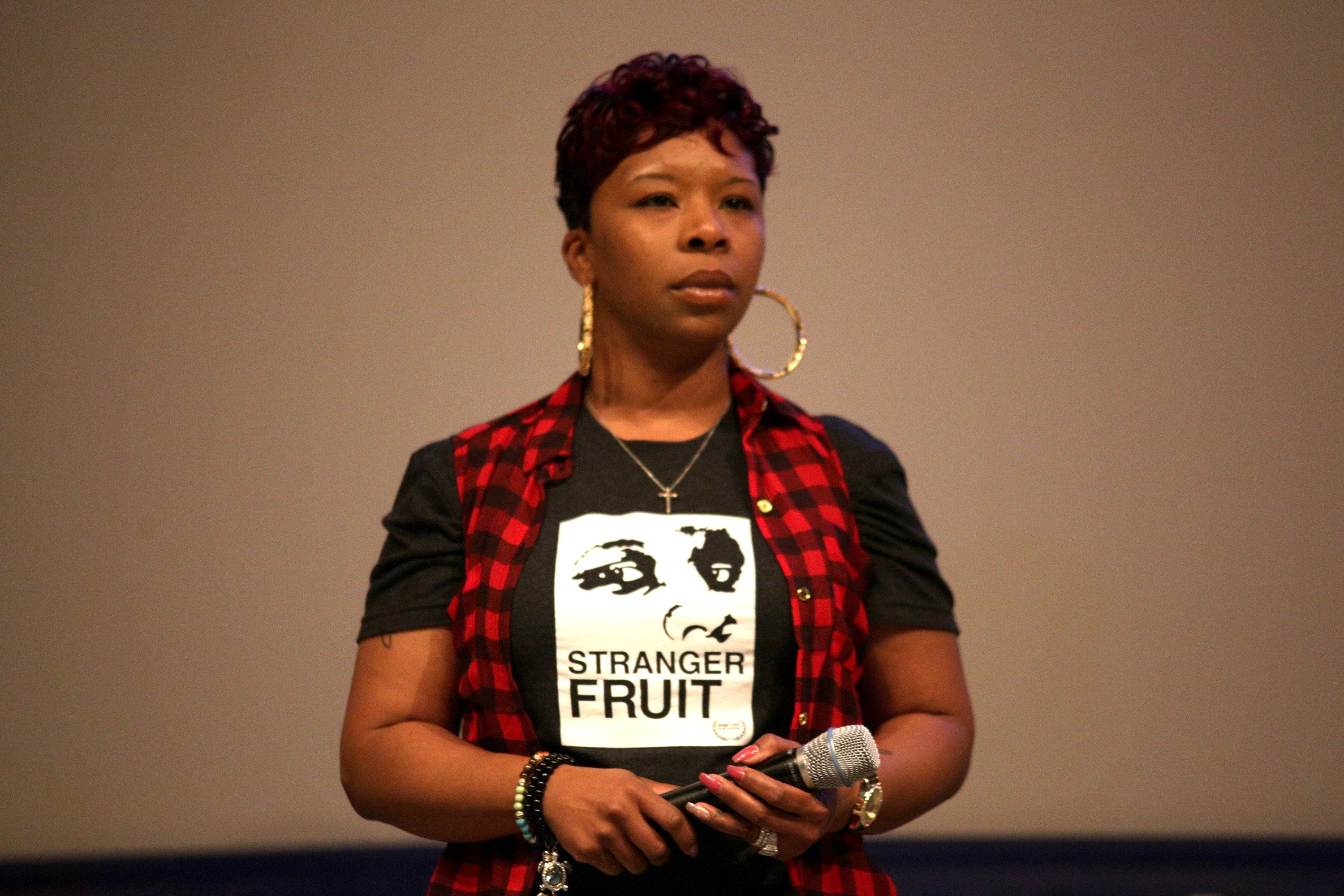 AUSTIN, TX - MARCH 11:  Lezley McSpadden speaks onstage at the premiere of 'Stranger Fruit' during 2017 SXSW Conference and Festivals at Vimeo on March 11, 2017 in Austin, Texas.  (Photo by Sandra Dahdah/Getty Images for SXSW)