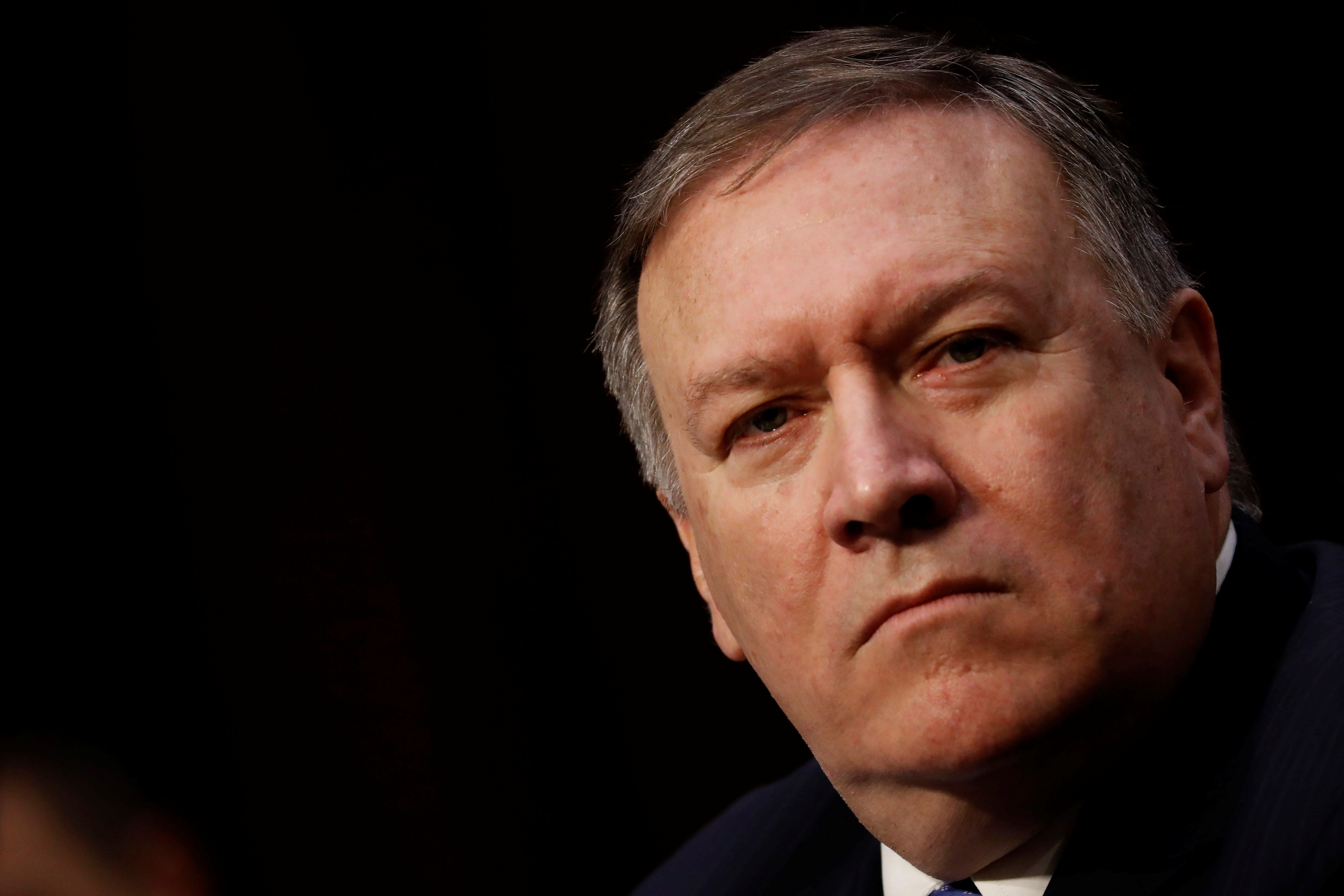 Central Intelligence Agency (CIA) Director Mike Pompeo testifies before the Senate Intelligence Committee on Capitol Hill in Washington, U.S., February 13, 2018. REUTERS/Aaron P. Bernstein