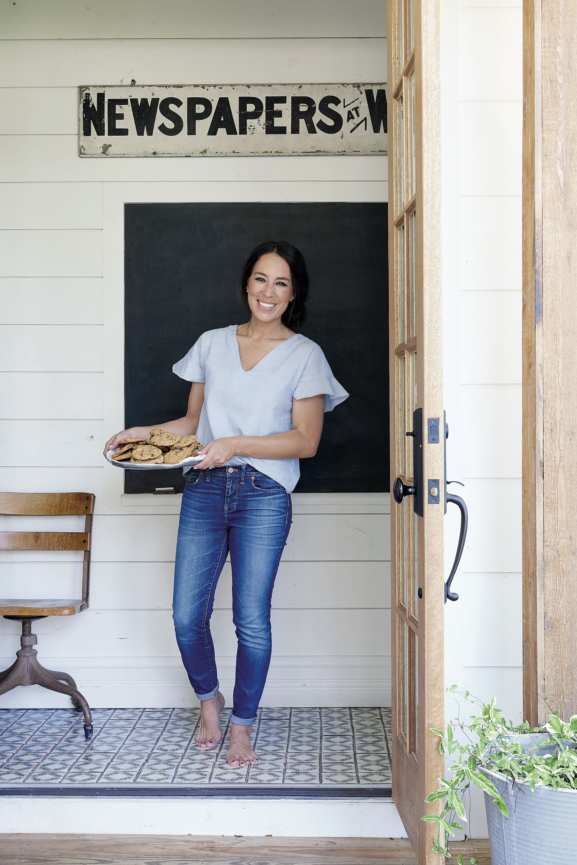 Joanna Gaines' recipe for chocolate chip cookies uses less butter than most.